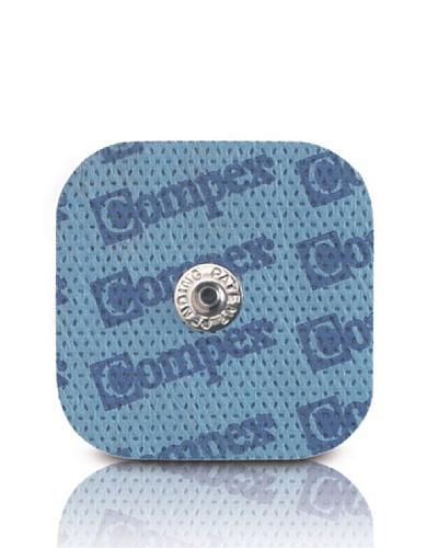 CefarCompex Performance Snap – Electrodos adhesivos (4 unidades, 5 x 5 cm), Azul
