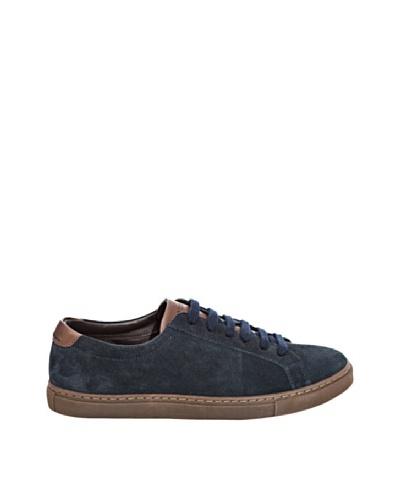 Cortefiel Zapatillas Ante Azul Marino