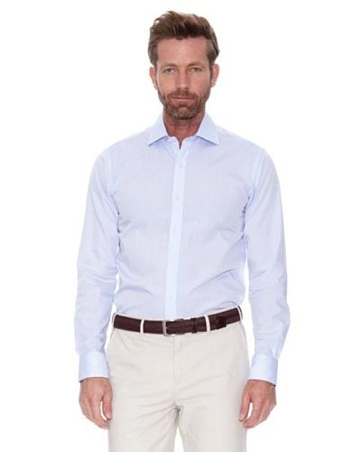 Cortefiel Camisa Raya Azul Horizontal