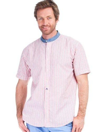 Cortefiel Camisa Mao Rayas Rosa / Blanco / Azul