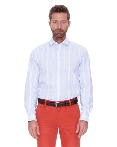 Cortefiel Camisa Multirayas Azul