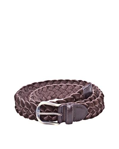 Cortefiel Cinturón Trenzado Marrón Oscuro