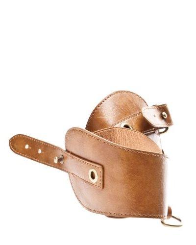 Cortefiel Cinturón Anillas Camel