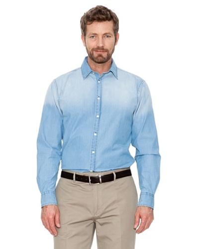 Cortefiel Camisa Denim Azul