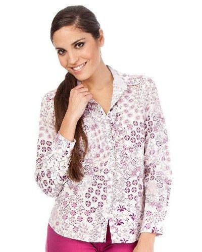 Cortefiel Camisa Estampada Flor Lila