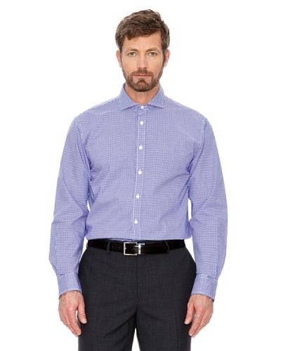 Cortefiel Camisa Cuadros Morado / Blanco