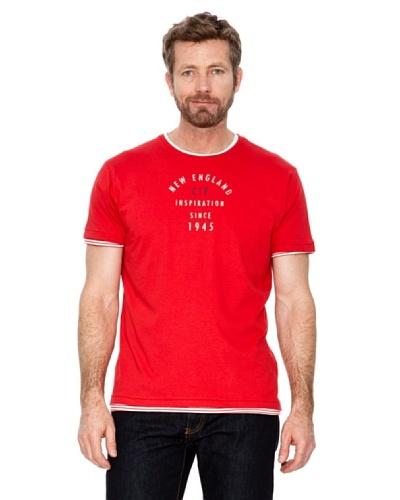 Cortefiel Camiseta Letras Rojo