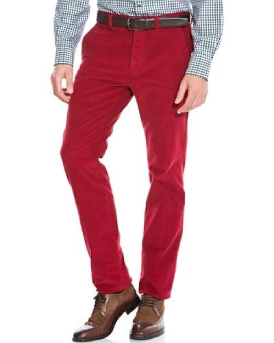 Cortefiel Pantalón Pana regular Rojo