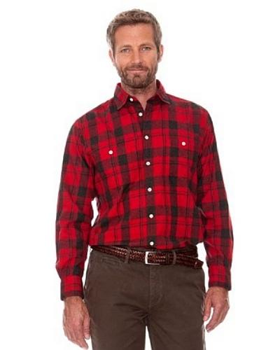Cortefiel Camisa Cuadros Rojo