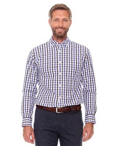 Cortefiel Camisa Cuadros Morado