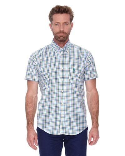 Cortefiel Camisa Cuadro Tricolor