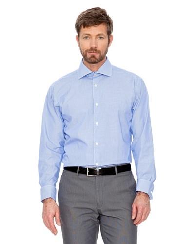 Cortefiel Camisa Rayas Gemelos Azul