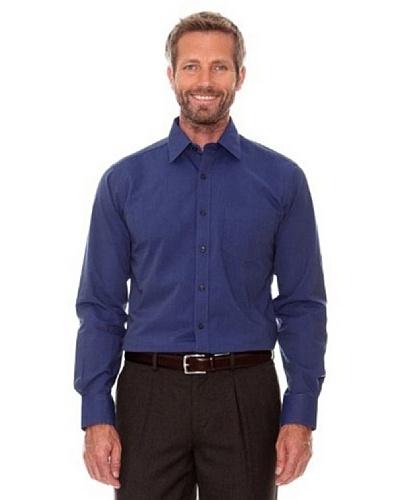 Cortefiel Camisa Lisa Azul Marino