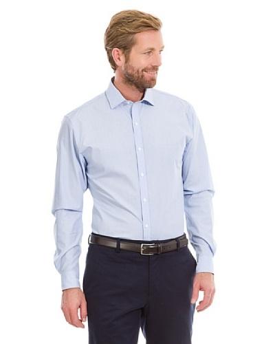 Cortefiel Camisa Lisa Vestir Azul