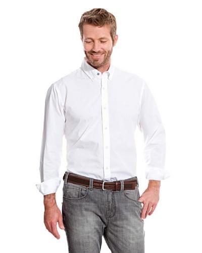 Cortefiel Camisa Liso Blanco