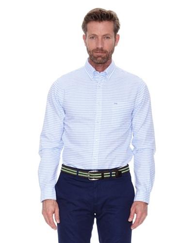 Cortefiel Camisa Oxford Rayas Azul