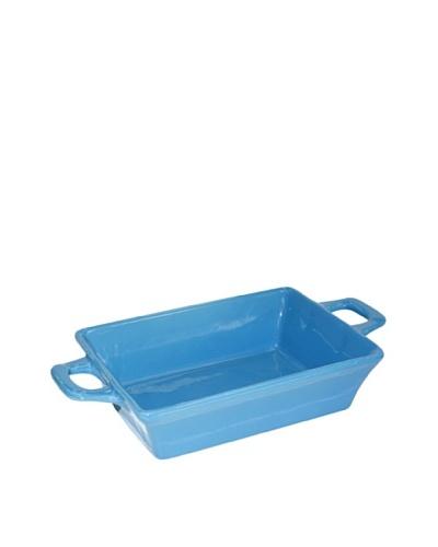 Crealys Fuente Rectangular En Gres Azul- Con Asas