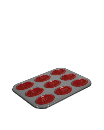 """Crealys Molde Para 9 Madalenas En Silicona Y Acero """"Sweet"""" 24 x 32 cm"""