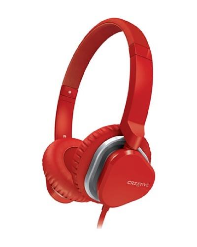 Creative Hitz MA2400 – Auriculares de diadema cerrados (con micrófono), rojo