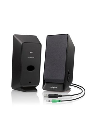 Creative Labs A50 – Altavoces portátiles (2.0, 70 Db, 1.6 W, 100 – 15000 Hz)