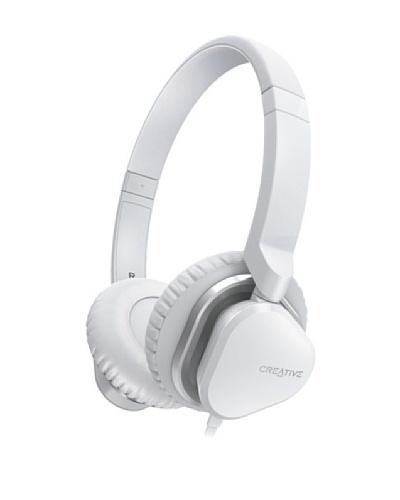 Creative Hitz MA2400 - Auriculares de diadema cerrados (con micrófono), blanco