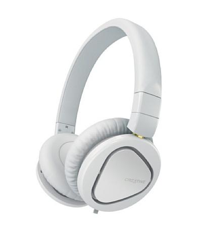 Creative Hitz MA2600 – Auriculares de diadema cerrados (con micrófono), blanco