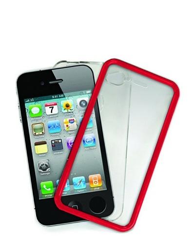 Blautel iPhone 4/4S Carcasa Protectora Touch Screen Rojo