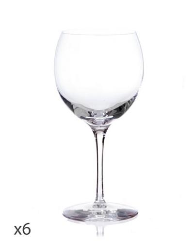 Cristal De Sèvres Caja De Seis Copas Bourgogne De Vino Rosado Cepages G