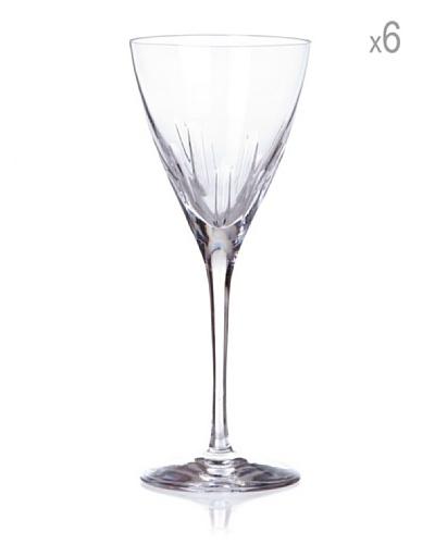 Cristal de Sèvres Caja 6 Copas Copa de Vino Rosado Lune D'Eau