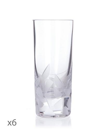 Cristal De Sèvres Caja De Seis Vasos Altos Frost
