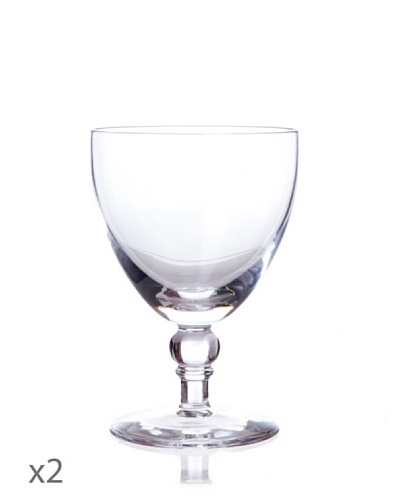 Cristal De Sèvres Caja De Dos Copas De Vino Tinto Perle