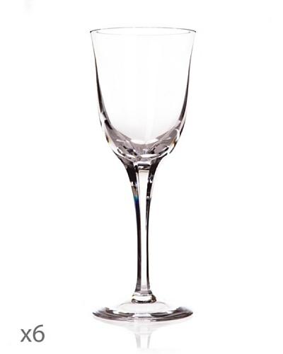 Cristal De Sèvres Caja De Seis Copas De Vino Rosado Aria
