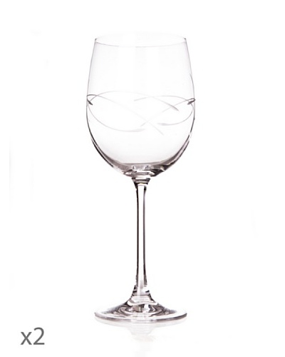 Cristal De Sèvres Toujours Caja De Dos Copas De Agua Gentiane