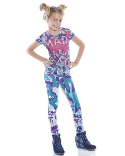 Custo Legging Om Glamrock Azul