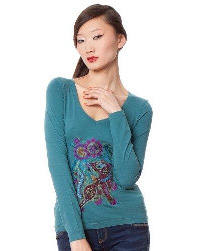 Custo Camiseta Rekus Aguamarina