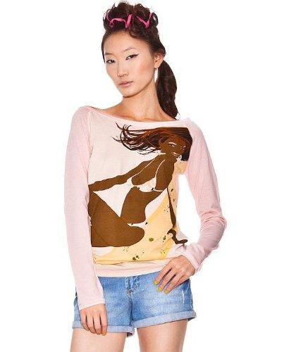 Custo Camiseta Ufa Rosa / Marrón