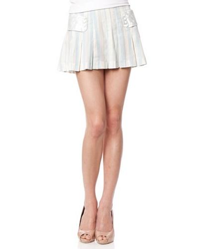 Custo Mini Falda Girl Fresh Blanco / Celeste