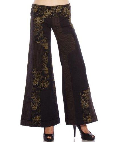 Custo Pantalón Negro / Marrón