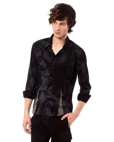 Custo Camisa Negro / Gris