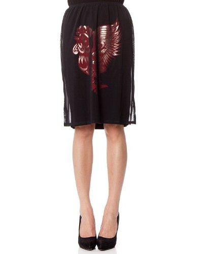 Custo Falda Fush Negro / Rojo