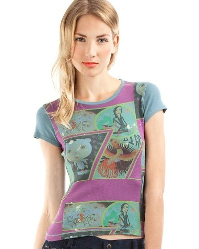 Custo Camiseta Small Tiger Bird Petróleo