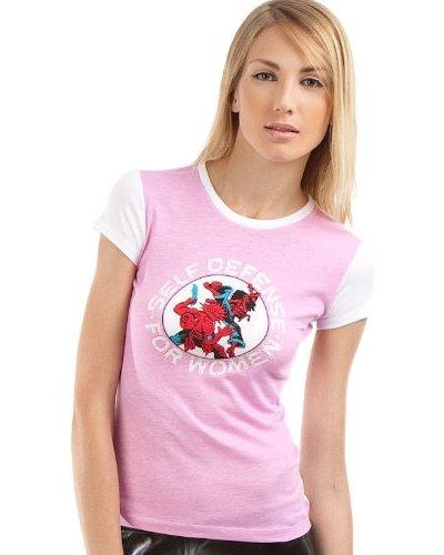 Custo Camiseta Little Defense Blanco / Rosa