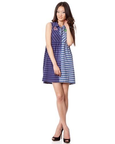 Custo Vestido Roly Azul / Gris