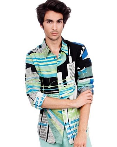 Custo Camisa Shirty Topflat Negro / Azul