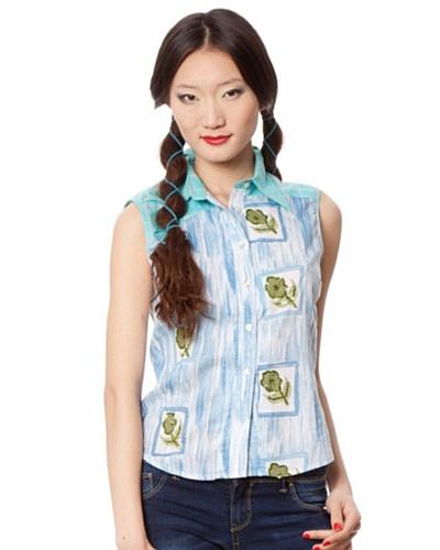 Custo Camisa Azul / Verde