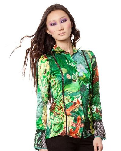 Custo Camisa Mum Lipshine Verde