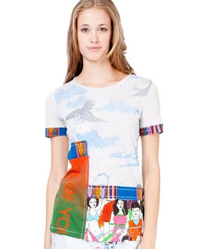 Custo Camiseta Ine Gris Perla / Azul