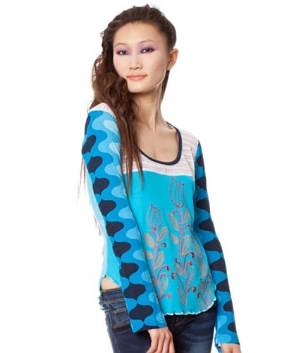 Custo Camiseta Azul