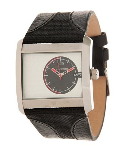Custo Watches CU005501 - Reloj de Caballero cuarzo piel Negro