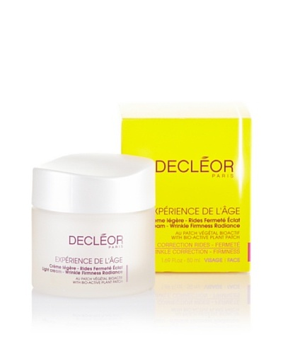 Decléor Expérience de L'àge Crème Légère rides Fermeté Ëclat (Au Patch Végétal Bioactif) 50 ml